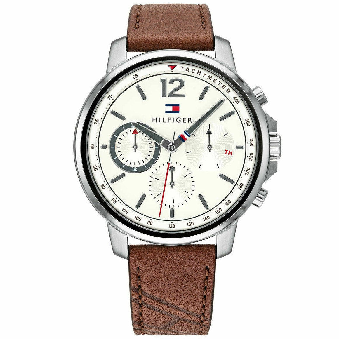Men's Brown Strap Chronograph Tommy Hilfiger Watch 1791531