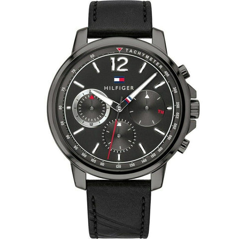 Men's Black Chronograph Tommy Hilfiger Watch 1791533