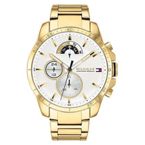 Men's White & Gold Chronograph Tommy Hilfiger Watch 1791538