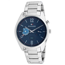 Men's Silver Deacan Stainless Steel Analogue Tommy Hilfiger Watch 1791551