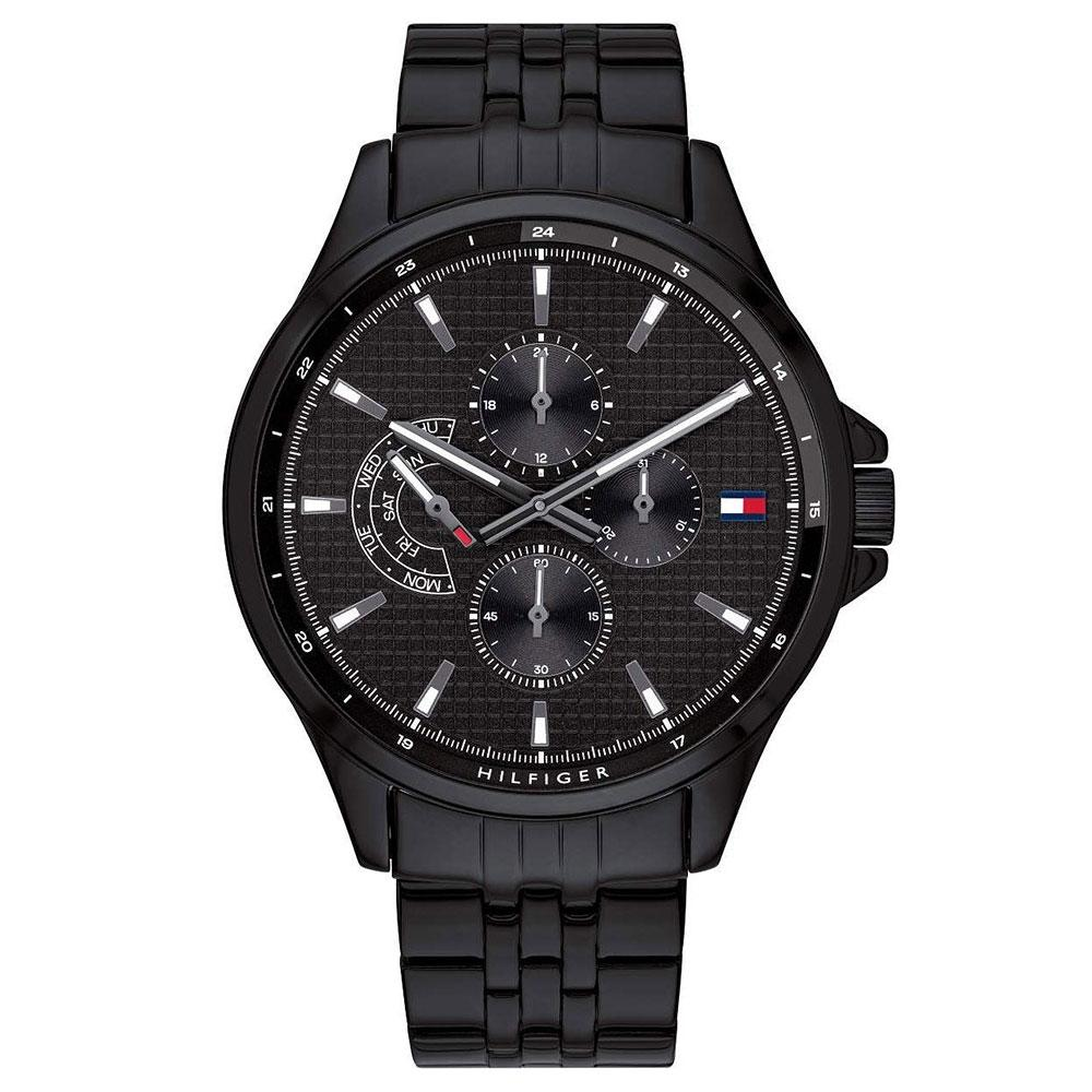 Men's Shawn Black Stainless Steel Chronograph Tommy Hilfiger Watch 1791611