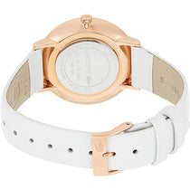 Ladies White Moon Leather Analogue Lacoste Watch 2000949