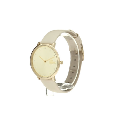 Ladies White Moon Leather Analogue Lacoste Watch 2001030