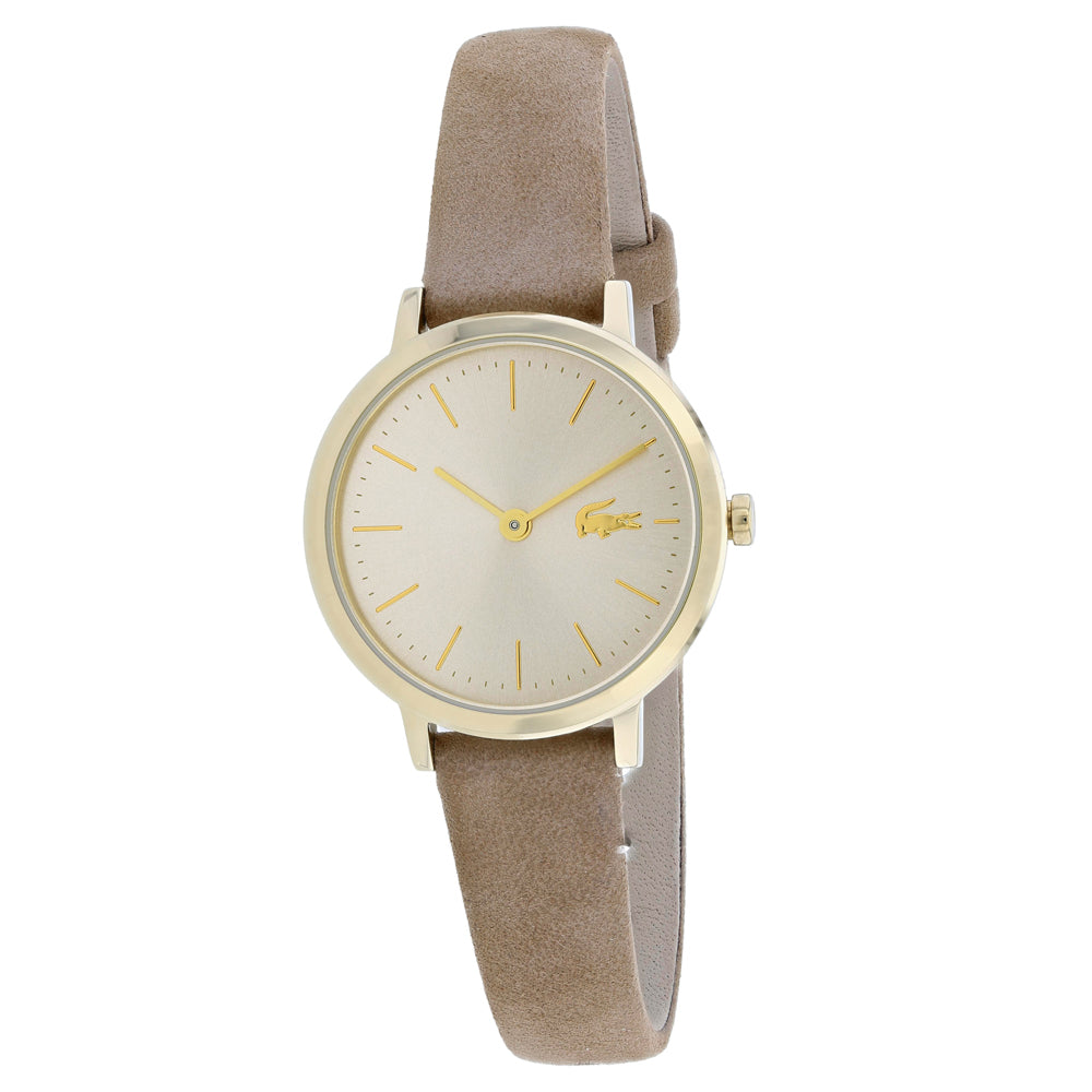 Ladies Grey Moon Leather Analogue Lacoste Watch 2001049