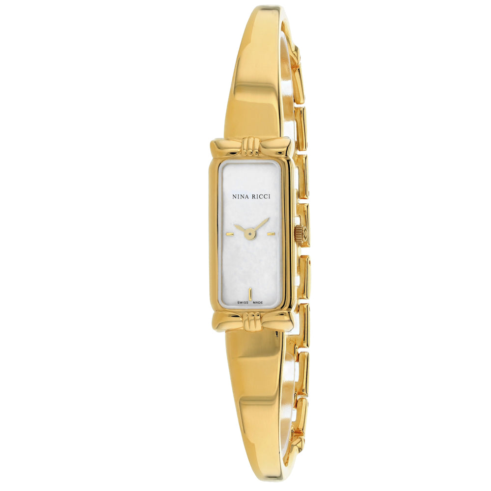 Ladies Gold Classic Stainless Steel Analogue Nina Ricci Watch 21120