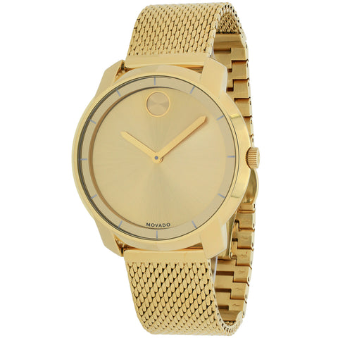 Ladies Gold Bold Stainless Steel Analogue Movado Watch 3600242