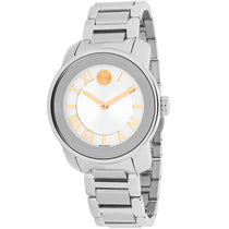 Ladies Silver Bold Stainless Steel Analogue Movado Watch 3600244