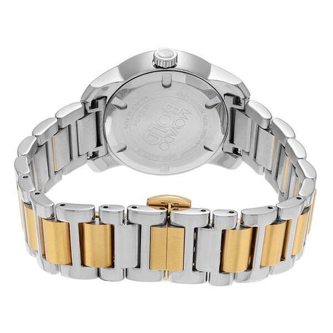 Ladies Gold-Silver Bold Stainless Steel Analogue Movado Watch 3600256