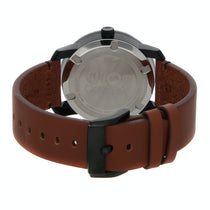 Men's Brown Bold Leather Analogue Movado Watch 3600305