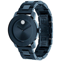 Ladies Blue Bold Stainless Steel Analogue Movado Watch 3600388
