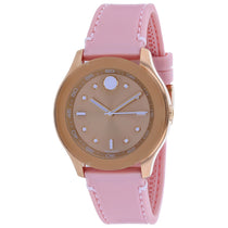 Ladies Pink Bold Leather Analogue Movado Watch 3600426