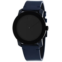 Men's Blue Bold Leather Analogue Movado Watch 3600583