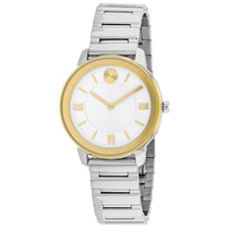 Ladies Silver Bold Stainless Steel Analogue Movado Watch 3600592