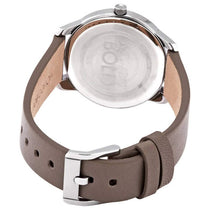 Ladies Grey Bold Leather Analogue Movado Watch 3600593