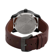 Men's Brown Bold Leather Analogue Movado Watch 3600602