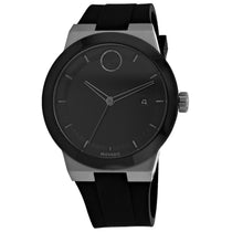 Men's Black Bold Rubber Analogue Movado Watch 3600621