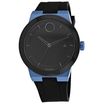 Men's Black Bold Rubber Analogue Movado Watch 3600626