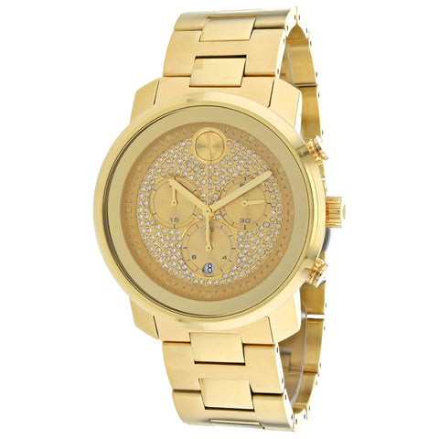 Men's Gold Bold Stainless Steel Analogue Movado Watch 3600667