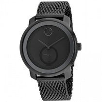 Men's Black Bold Stainless Steel Chronograph Movado Watch 3600679