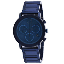 Men's Blue Bold Stainless Steel Chronograph Movado Watch 3600683
