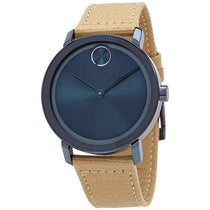 Ladies Brown Bold Leather Analogue Movado Watch 3600691