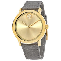 Ladies Grey Bold Leather Analogue Movado Watch 3600692