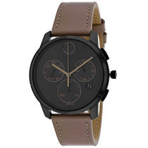Men's Brown Bold Leather Chronograph Movado Watch 3600719