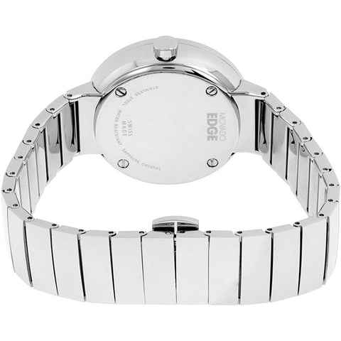 Ladies Silver Edge Stainless Steel Analogue Movado Watch 3680012