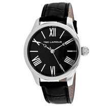 Men's Black Classic Leather Analogue Ted Lapidus Watch 5129503