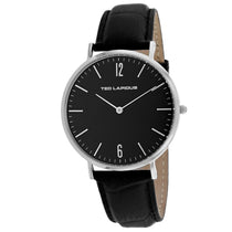 Men's Black Classic Leather Analogue Ted Lapidus Watch 5131201