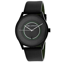 Men's Black Classic Leather Analogue Ted Lapidus Watch 5131903