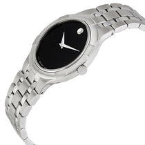 Ladies Black Metio Stainless Steel Analogue Movado Watch 606204