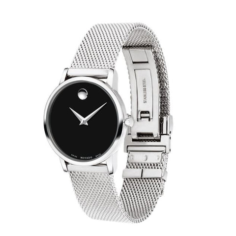 Ladies Silver Museum Stainless Steel Analogue Movado Watch 607220