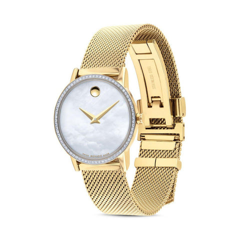 Men's Gold Museum Stainless Steel Analogue Movado Watch 607351