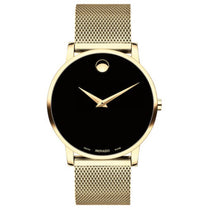 Men's Gold Museum Stainless Steel Analogue Movado Watch 607396