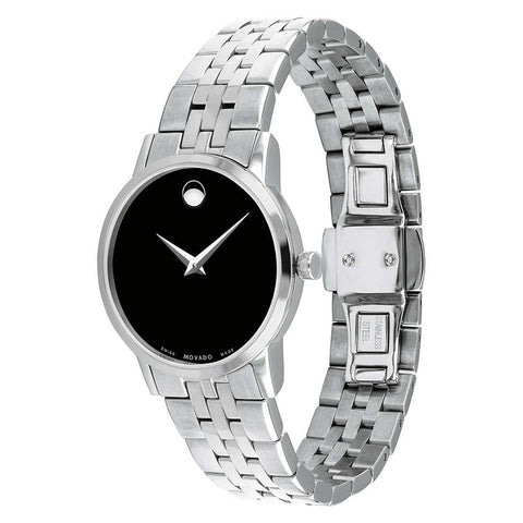 Ladies Silver Museum Stainless Steel Analogue Movado Watch 607397