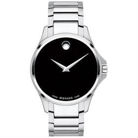 Men's SIiver Ario Stainless Steel Analogue Movado Watch 607446