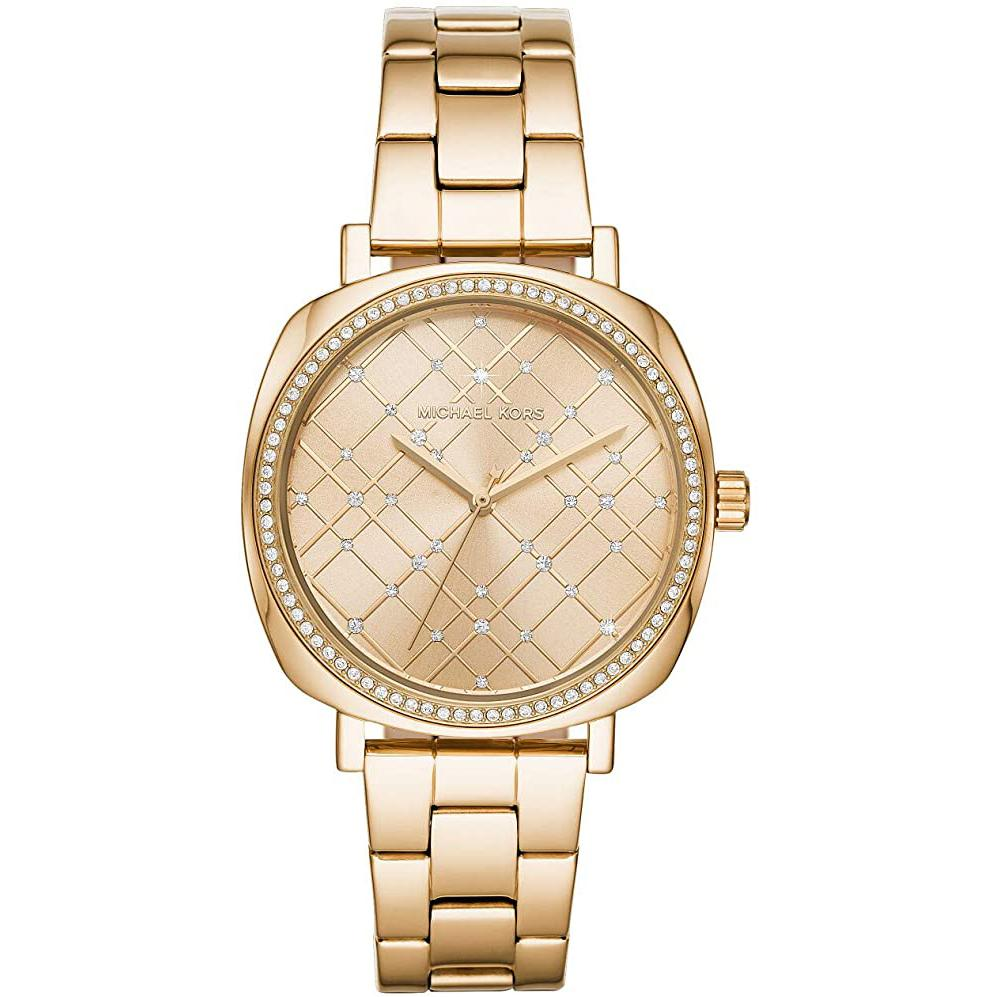 Women's Gold Nia Stainless Steel Analogue Michael Kors Watch MK3989