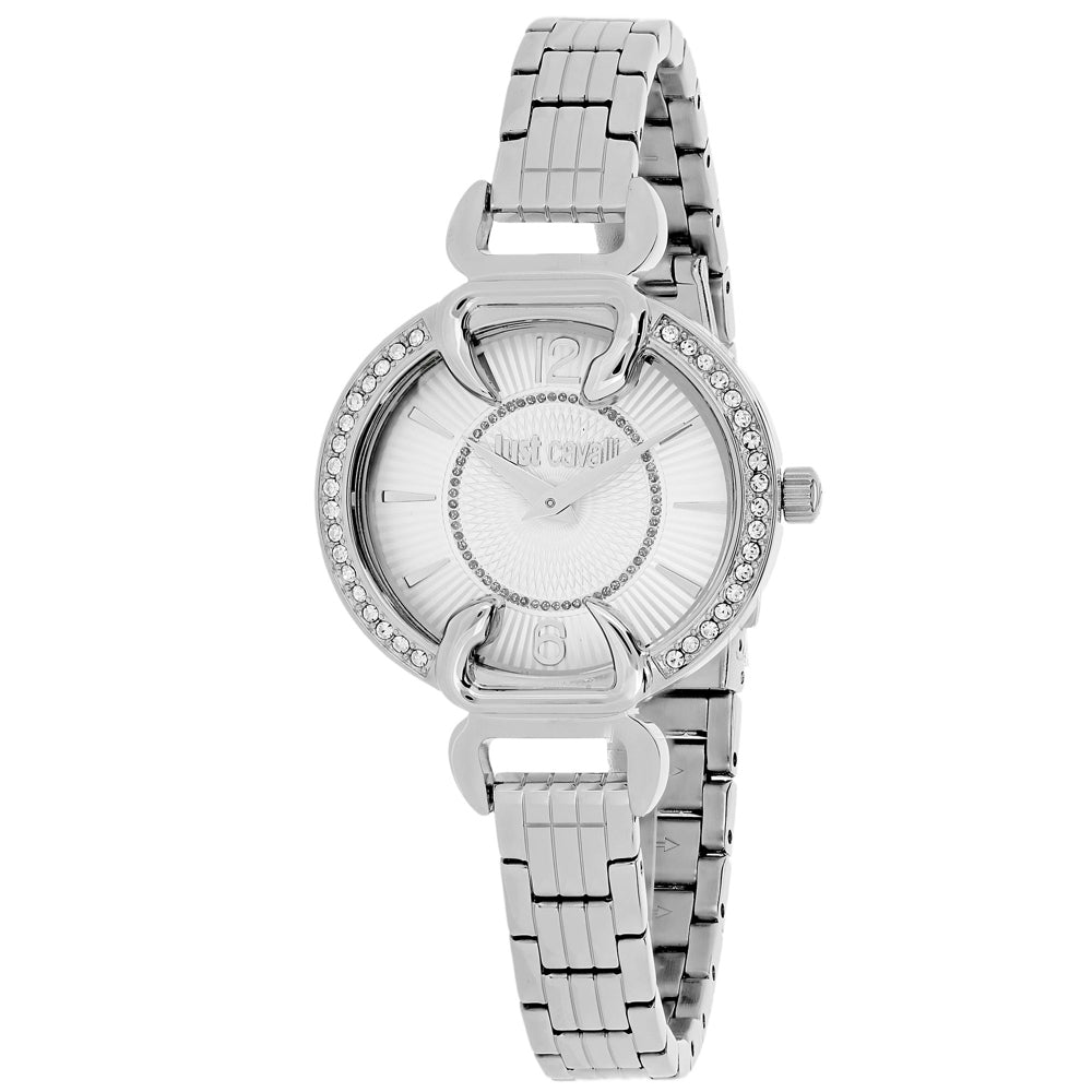 Ladies Silver Luxury Stainless Steel Analogue Just Cavalli Watch 7253534506