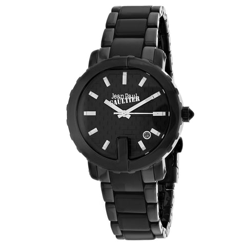 Ladies Black Classic Leather Analogue Jean Paul Gaultier Watch 8500514