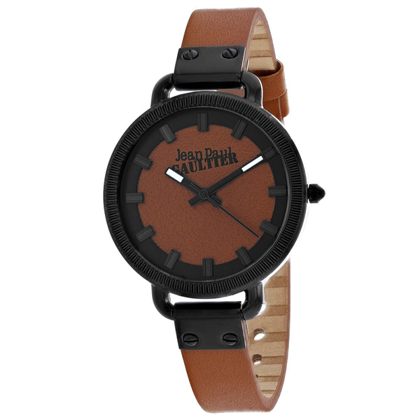 Ladies Brown Index Leather Analogue Jean Paul Gaultier Watch 8504314