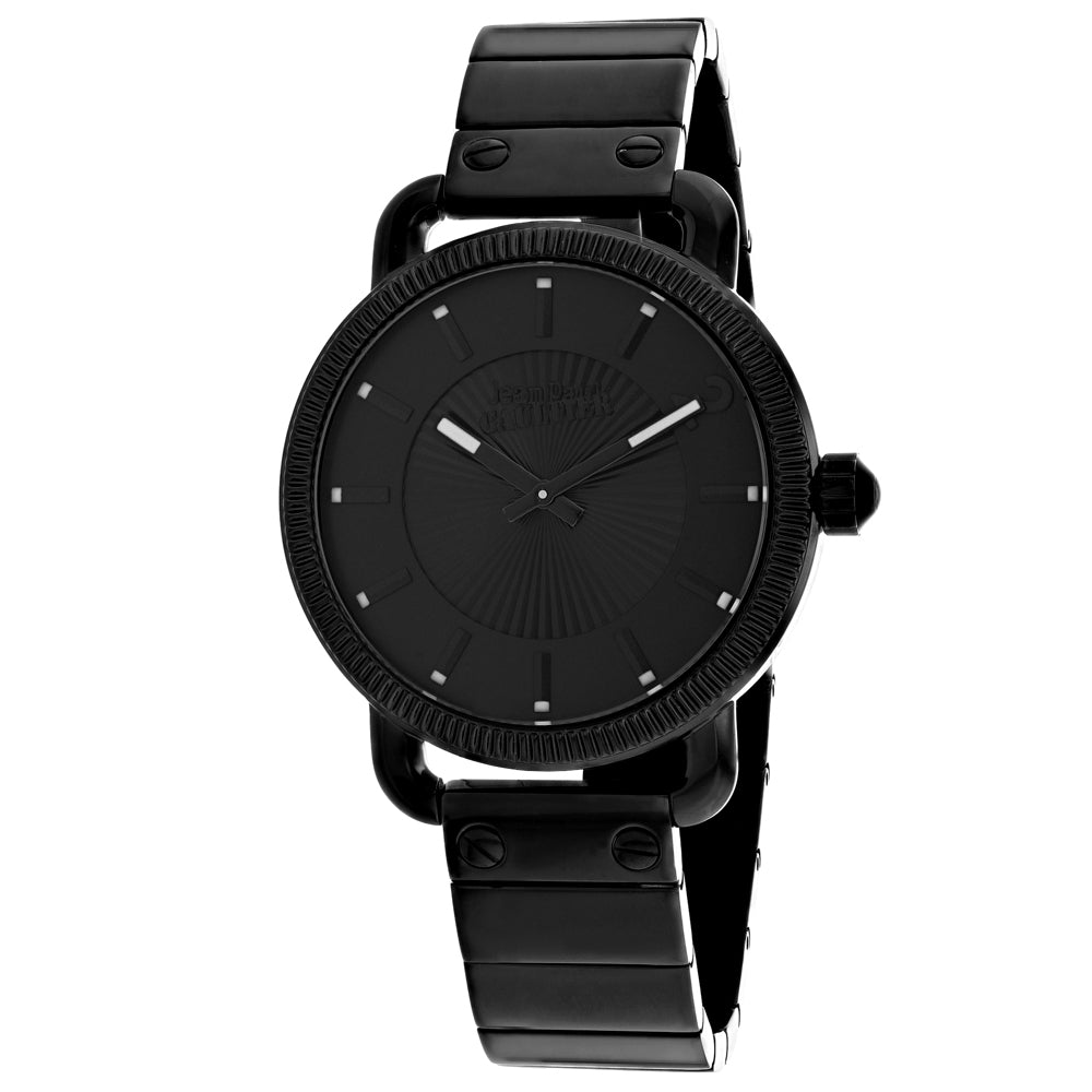 Men's Black Index Stainless Steel Analogue Jean Paul Gaultier Watch 8504402