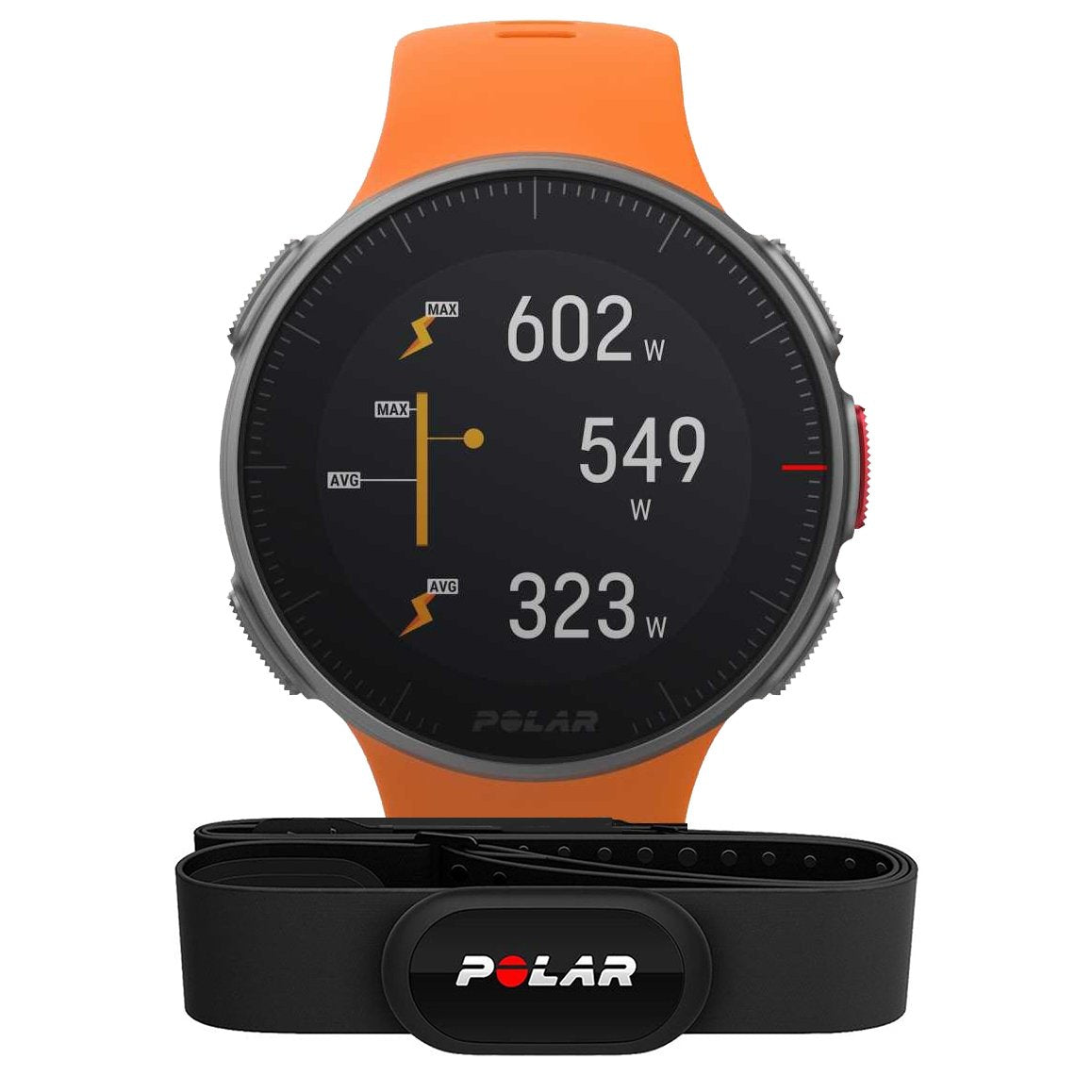 Polar Smart Watch Vantage V (With Heart Rate Strap) Orange Premium GPS Multi Sport & Triathlon Training 90069666
