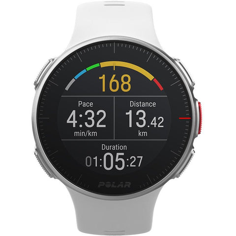 Polar Smart Watch Vantage V White Premium GPS Multi Sport & Triathlon Training Heart Rate 90070736