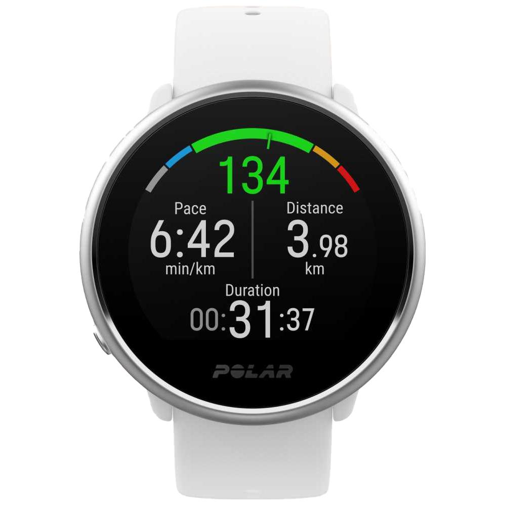 Polar Smart Watch Ignite Fitness Activity & Heart Rate Tracker GPS White 90071067