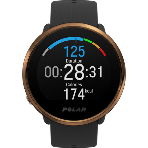 Polar Smart Watch Ignite Fitness Activity & Heart Rate Tracker GPS Black & Copper 90079362
