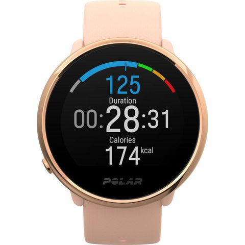 Polar Smart Watch Ignite Fitness Activity & Heart Rate Tracker GPS Pink & Rose 90079898