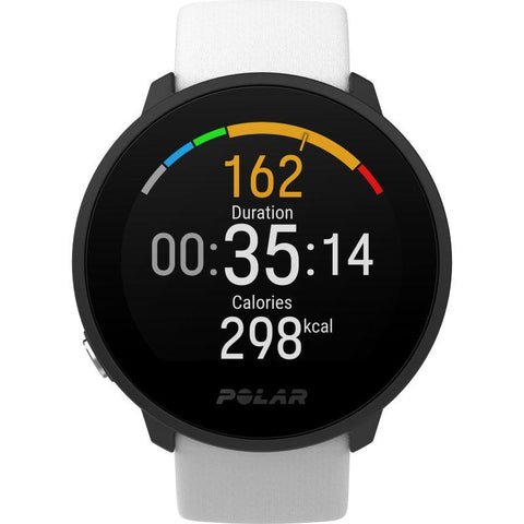 Polar Smart Watch Unite White Rubber Strap Fitness Watch With Heart Rate and Sleep Tracking 90081803