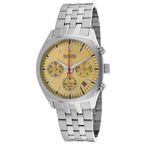 Men's Gold Accutron II Stainless Steel Chronograph Bulova Watch 96B239