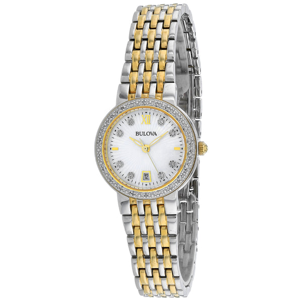 Women's Silver Maiden Lane  Stainless Steel Analogue Bulova Watch 98R211